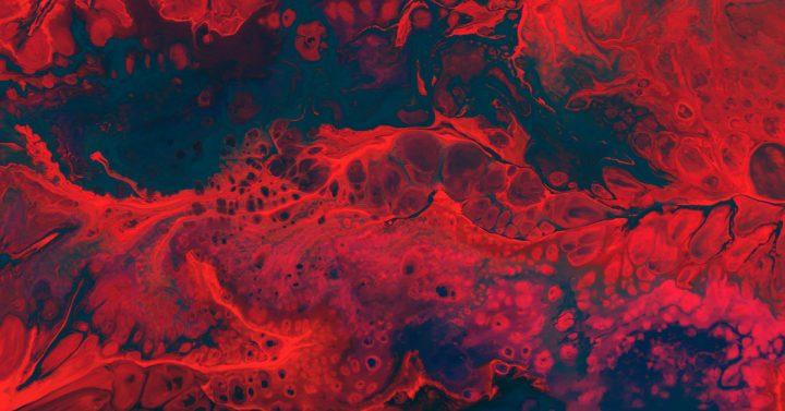 Blood red swirl