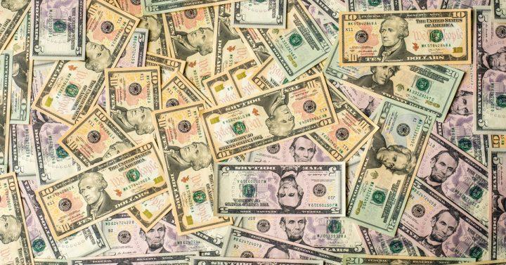 Lots dollar bills